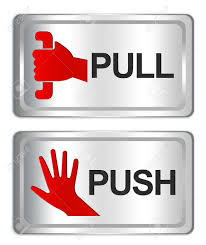 push sign for glass door