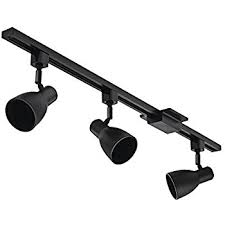 track lighting fitting. Lithonia Lighting LTKSTBF BR20 DBL M4 3-Light Step Baffle Track Kit, Black Fitting