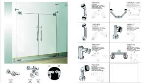 glass doors hardware frameless shower accessories stainless steel door