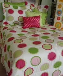 twister hot pink lime green polka dot