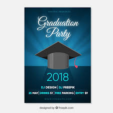Elegant Graduation Announcements Elegant Graduation Invitation Template Flat Design Vector