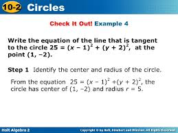 example 4 write the equation of the line that is tangent to