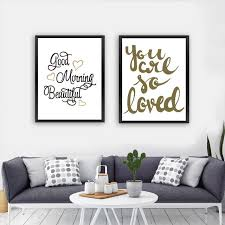office canvas art. Office Canvas Art. Good Morning Beautiful Sweet Heart Love Quote Art Print Poster Paintings T