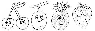 Vrolijke Kleurplaten Van Fruit Fruitjes Fruitvriendjes Kijk Bij