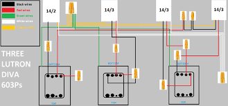 wiring diagram for lutron pico switch wiring diagram for lutron replacing 3 diva switches and 2 3 way switches grafik eye wiring diagram for lutron