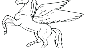 Cute Baby Pegasus Coloring Pages Coloring Source Kids