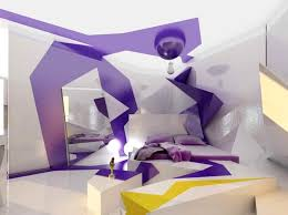 Tips And Ideas: Futuristic Bedrooms : Entrancing Image Of Futuristic  Bedrooms Decoration Using Purple White