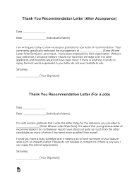 Thanksgiving Letter Templates Free Thank You Letter For Recommendation Template With