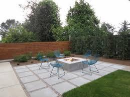 simple patio designs concrete. Simple Back Patio Design Ideas With Chairs And Square Fire Pit \u2026 Designs Concrete Y