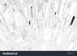 architectural drawings of skyscrapers. Beautiful Skyscrapers Architectural Drawing Of City With Skyscrapers From Above In Drawings Of Skyscrapers
