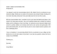 college admissions letter of recommendation sample college admission letter of recommendation forteeuforic
