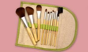 beaute basics eco friendly makeup brush set 13 99 for a 10 piece beaute