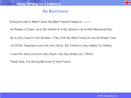 essays on my best friend for children 183 words essay for kids on my best friend preserve articles