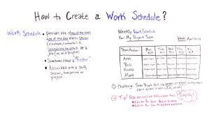 Online Work Schedule Creating A Work Schedule Plus Free Template