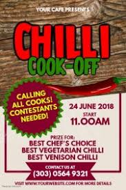 chili cook off poster. Plain Chili Chili CookOff Contest Poster Template To Cook Off