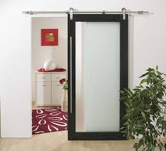barn door with full frosted glass barn style sliding doors
