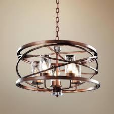 franklin iron works chandelier bennington collection 5 light amber scroll manchester 28 wide
