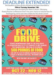 Food Drive Posters Food Drive Success Tag Pta
