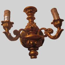 gold gilt wall sconce candle holders