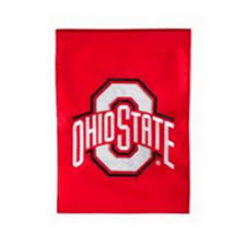 ohio state university applique garden flag