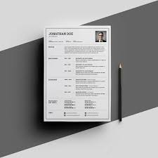 word for black and white resume templates for word free 15 examples for download
