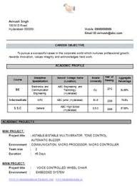 Download Resume Format Fresh Mechanical Engineer Resume For Fresher