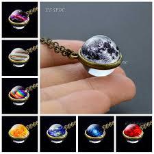 <b>Jupiter Nebula Earth</b> Moon Stars Planet Accessories Necklace ...
