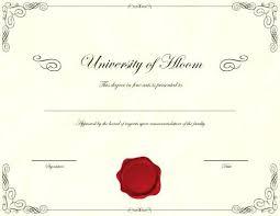 Certificate College Diploma Sample Template In Economics Buy