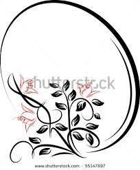 oval filigree frame tattoo. Shop Home Decor Frames Vintage Clip Art Ornaments With; Oval Frame With Flower Vector Shutterstock Eps Tattoo Elegant Filigree