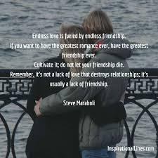Love And Romance Quotes Interesting Love Friendship Inspirational Quotes