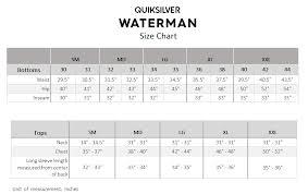 Mizzen And Main Size Chart Quiksilver Waterman El Mahe Short Sleeve Tech T Shirt
