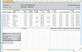 Download Employee Attendance Sheet Excel Template Payroll