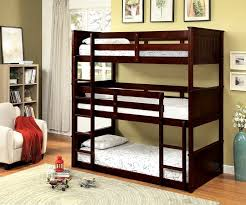 cm bk628t therese collection triple twin bed twin over twin over twin espresso finish wood bunk bed