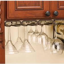 details about under cabinet wine glass holder rack oil rubbed bronze quad bar stemware hanger