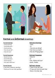 Formal Informal Greetings Worksheet Free Esl Printable