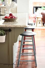 mismatched bar stools. Interesting Bar I Didnu0027t Want To Buy Another New Set Of Stools So Decided Use What  Had Had Two Old Wooden Bar That Found At Different Antique  And Mismatched Bar Stools