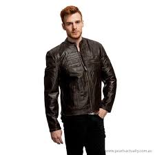 men black brown outerwear wilda men s leather scooter jacket with distressed leather australia 17669766 clothing s