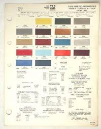 Sell 1978 Amc Ppg Color Paint Chip Chart Jeep Pacer Matador