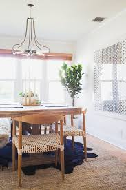 modern rustic dining room inspiration wooden table with woven allmodern dining chairs
