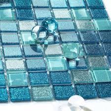 mirror tile backsplash ideas sea glass bathroom mosaic sheets shower wall tiles design kitchen decorating
