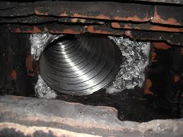 once you have the insulation in the chimney packed tight around the liner you will now need to cover it in a refractory cement
