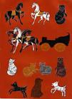 Городецкая роспись коты