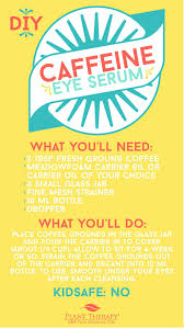 diy caffeine eye serum