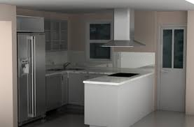 design compact kitchen ideas small layout:  inspiring ikea small modern kitchen design ideas with white cabinet with stool refrigerator