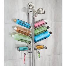 If you like storing your shampoo bottles up, you might want to take a look  at this. This unique shower caddy has 6 angled shelves that you can rest  the ...