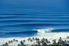 Overview Of Waves At Rockpiles North Shore Oahu Hawaii In