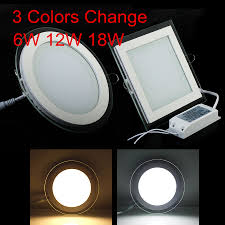 How To Change Recessed Led Light Us 4 84 30 Off Free Shipping 24w Round Square 3 Colors Change Glass Led Downlight Recessed Led Panel Light Spot Ceiling Down Light Ac110v 220v In