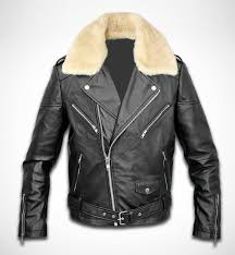 man motorbike leather jacket