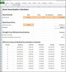 Interest And Amortization Calculator Loan Amortization Schedule Excel Template Effective Interest Rate