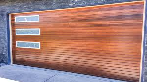 modern wood garage door. Modern Wood Garage Door